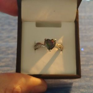 Heart Mystic Topaz ring - size 7